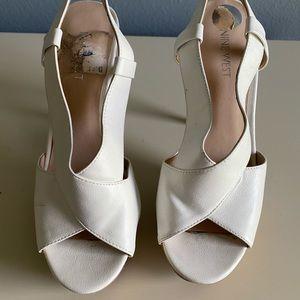 White Nine West Heels